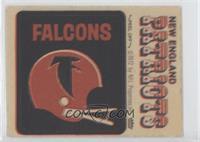 Atlanta Falcons Helmet, New England Patriots