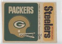 Green Bay Packers Helmet, Pittsburgh Steelers
