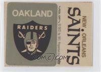 Oakland Raiders Logo, New Orleans Saints