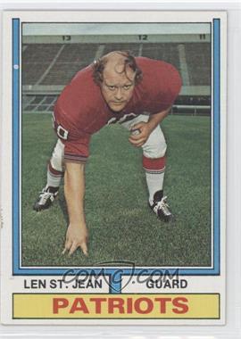 1974 Topps - [Base] #103 - Len St. Jean