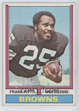 1974 Topps #11 - Frank Pitts [Good to VG‑EX]
