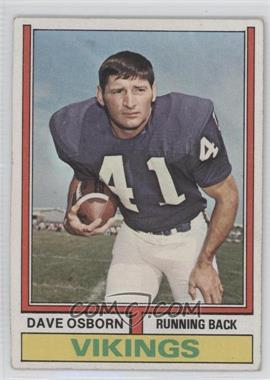 1974 Topps #293 - Dave Osborn [Good to VG‑EX]