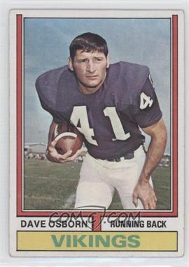 1974 Topps #293 - Dave Osborn [GoodtoVG‑EX]