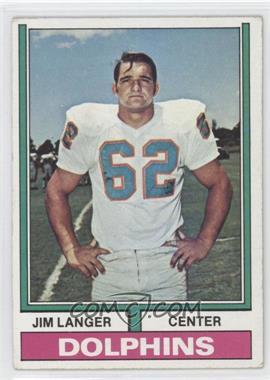1974 Topps #397 - Jim Langer [GoodtoVG‑EX]