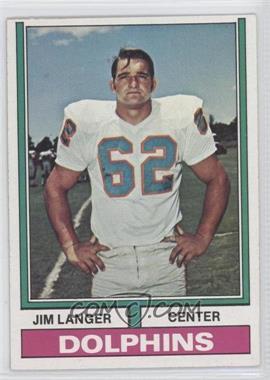 1974 Topps #397 - Jim Langer