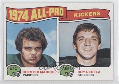 1975 Topps #212 - Chester Marcol, Roy Gerela