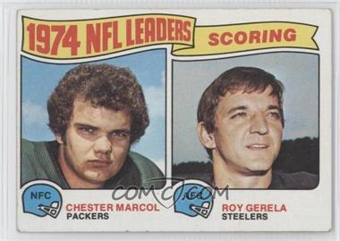 1975 Topps #4 - Chester Marcol, Roy Gerela [Good to VG‑EX]