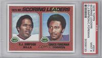 Scoring Leaders (O.J. Simpson, Chuck Foreman) [PSA 9]