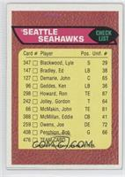 Seattle Seahawks Team Checklist