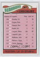 Seattle Seahawks Checklist