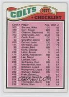 Colts Checklist