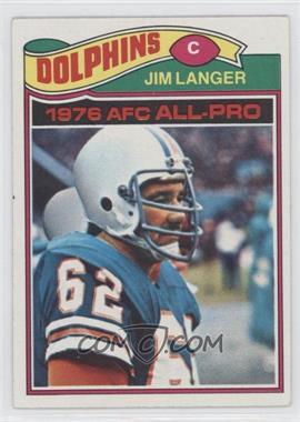 1977 Topps #390 - Jim Langer