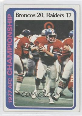 1978 Topps - [Base] #167 - AFC Championship