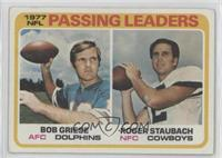 NFL Passing Leaders (Bob Griese, Roger Staubach) [GoodtoVG‑EX]