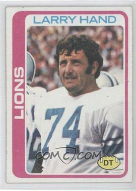 1978 Topps - [Base] #356 - Larry Hand