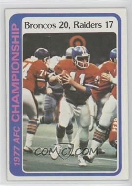 1978 Topps #167 - AFC Championship