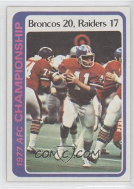 1978 Topps #167 - Denver Broncos Team