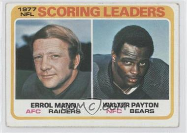 1978 Topps #334 - Errol Mann, Walter Payton [Good to VG‑EX]
