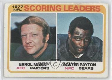 1978 Topps #334 - Errol Mann, Walter Payton [GoodtoVG‑EX]