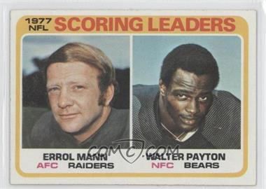 1978 Topps #334 - Errol Mann, Walter Payton