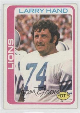 1978 Topps #356 - Larry Hand