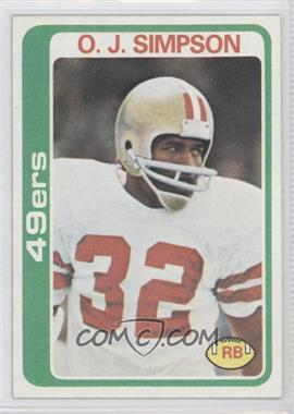 1978 Topps #400 - O.J. Simpson