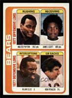 Bears Leaders Team Checklist (Walter Payton, James Scott, Allan Ellis, Ron Ryda…