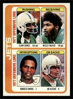 Clark Gaines, Wesley Walker, Burgess Owens, Joe Klecko [EX MT]