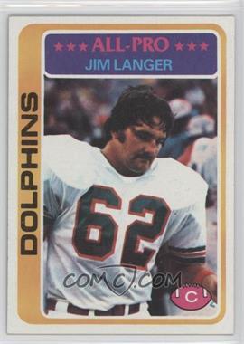 1978 Topps #70 - Jim Langer