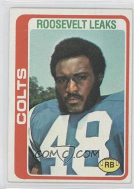 1978 Topps #9 - Roosevelt Leaks [Good to VG‑EX]
