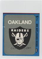 Oakland Raiders Logo (Blue Border) [Poor]