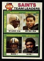 Saints Leaders, Team Checklist (Tony Galbreath, Henry Childs, Tom Myers, Elex P…