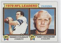 Passing Leaders (Roger Staubach, Terry Bradshaw) [Poor to Fair]