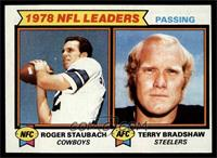 Passing Leaders (Roger Staubach, Terry Bradshaw) [EX MT]