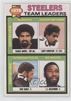1978 Steelers Team Leaders (Franco Harris, Larry Anderson, Tony Dungy, L.C. Gre…
