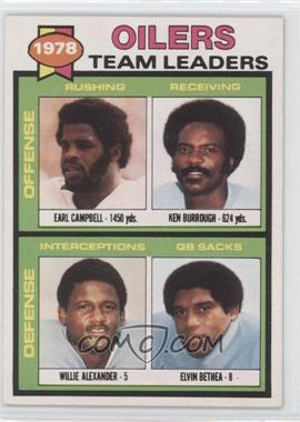 1979 Topps #301 - Checklist (Earl Campbell, Willie Anderson, Ken Burrough, Elvin Bethea)
