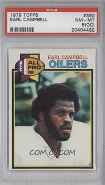 1979 Topps #390 - Earl Campbell [PSA8(OC)]
