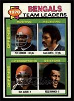 Bengals Leaders, Team Checklist (Pete Johnson, Isaac Curtis, Dick Jauron, Ross …
