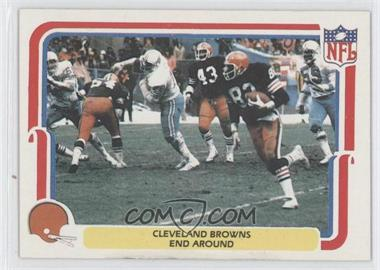 1980 Fleer NFL Team Action #11 - Cleveland Browns End Around