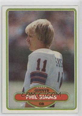 1980 Topps - [Base] #225 - Phil Simms