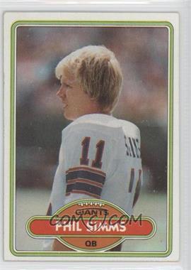 1980 Topps #225 - Phil Simms