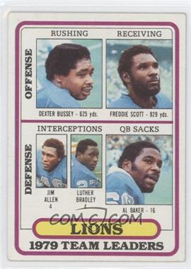 1980 Topps #488 - Detroit Lions Team