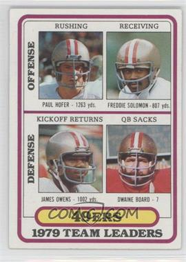 1980 Topps #526 - San Francisco 49ers Team