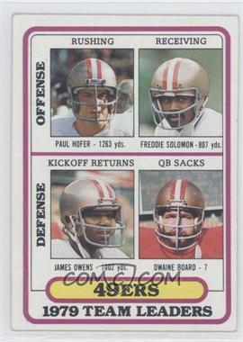 1980 Topps #526 - San Francisco 49ers Team