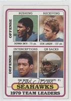 Sherman Smith, Steve Largent, Dave Brown, Manu Tuiasosopo
