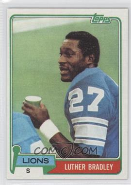 1981 Topps - [Base] #203 - Luther Bradley
