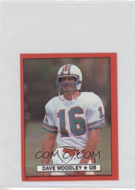 1981 Topps Stickers Red Border #14 - David Woodley