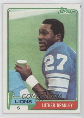 1981 Topps #203 - Luther Bradley