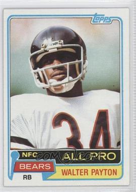 1981 Topps #400 - Walter Payton