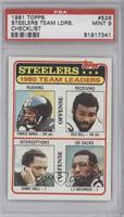 Pittsburgh Steelers Team Leaders [PSA 9]